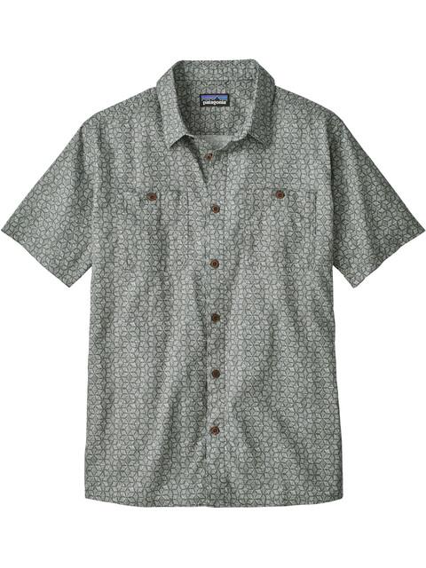 Patagonia M's Back Step Shirt Batik Hex Micro: Hex Grey